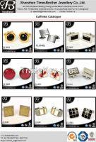 fashion costume jewelry china men's Enemal cufflinks