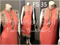 Ladies 3 pcs  Embroidered stitched suits