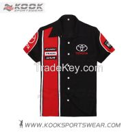 Customized sublimation motor racing shirts racing shirts