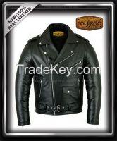 Leather Brando motorbike jacket