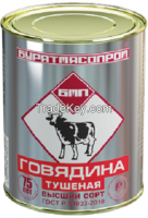 We offer Russian canned meat .