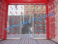 Red PVC inflatable meeting tent/ wedding tent