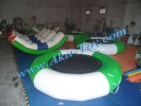Kids round funny inflatable water trampoline for sale