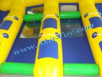 Hot summer water game 6 person inflatable flyfish boat