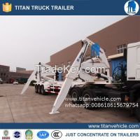 Container side loader truck
