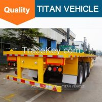 TITAN 3 axle 40ft Flatbed Trailer with 40ton 60 ton loading capacity