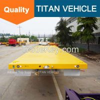 TITAN Tri Axle 40 ton 60ton Flat Bed Trailer for carrying 40ft contain