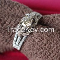 Free shipping 2015 Unique design 925 sterling silver jewelry 0.5CT sem