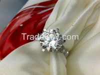 Jewelry Amazing Quality Designer 5ct Sona Synthetic Ring For Women Ste