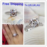 2015 Sale Fine Jewelry Sterling Jewelry Xmas 1ct 14k Plated Ring 925 B