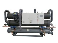 Water cooled low temp screw chiller