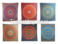 Handicrunch   Indian Traditional Cotton Mandala Bedspread
