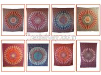 handicrunch   Indian Hippie multicolored Bed Cover  Wall hanging