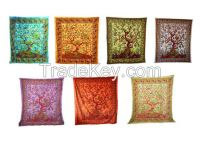 Handicrunch   Traditional Ethnic Style Tree of Life Tapestry  Bed Cover, Wall hanging