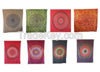 Handicrunch   Traditional Indian HippieTapestry  Bed Cover,  Wall hanging
