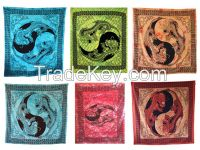 Handicrunch   Indian Dragon hippy ethnic wall hanging Tapestry