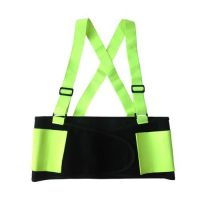 Back Support with Suspender, Fluorescent Green