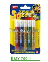 Drawing art paintng for 3D glitter glue