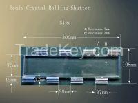 Crystal  rolling shutter slat for door