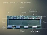Crystal  rolling shutter slat for show window