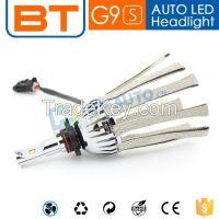 China Supplier OEM Fanless Car LED Headlight h4 h7 h8 h9 LED Headlight Bulb