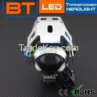 Exporting Blue Housing Motocycle Led Headlight Conversion U5 Transformer 3000lm Lights