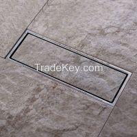 304 brushed nickel solid stainless steel square anti-odor floor drain