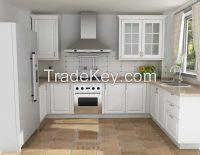 2015 new style White PVC laminate kitchen cabinet door