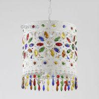 Bedroom white wrought iron chandelier