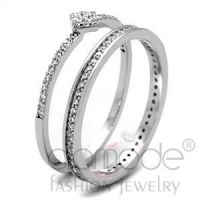 Jewelry Wholesale 925 Sterling Silver AAA Grade CZ Wedding Ring Sets
