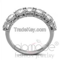 Stainless Steel Cluster Ring