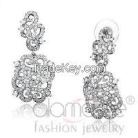 Alamodeonline Rhodium AAA Grade CZ Bridal Jewelry Sets