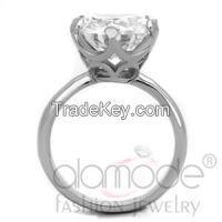 TK1823 Stainless Steel AAA Grade CZ Bold Engagement/Wedding/Everyday Ring