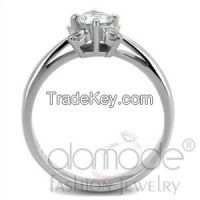TK2172 Stainless Steel AAA Grade CZ Elegant Engagement/Wedding/Everyday Ring