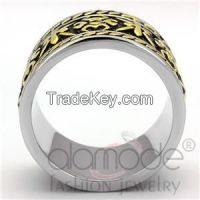 TK2236 Stainless Steel Jet Black Epoxy Ring