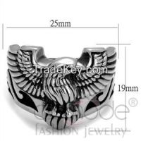 TK2319 Black Biker Eagle Stainless Steel Epoxy Ring