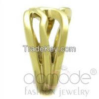 TK2036 Chic & Wavy Gold-Plated Stainless Steel Ring