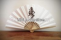 Custom Bamboo Silk Hand Fan for wedding/decorations/ gift/ event sourvenir