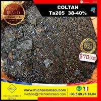 COLTAN - Tantalite Ta205 (38-40%) tantalum, Columbite