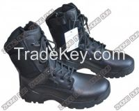 ankle upper cow leather combat boot for army