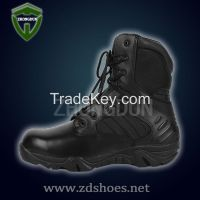 ankle upper cow leather and oxford  combat boot for arm