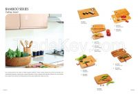 Bamboo and wooden cutting board