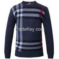 Men Gray Pullover Long Sleeve 2XL 2015 new winter men's casual T-shirt