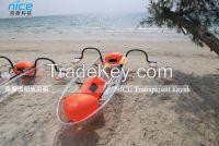 Clear polycarbonate kayak