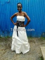 Ivory A-Line Wedding Gown with Ruching