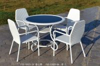 Outdoor/indoor rattan furniture