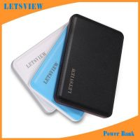LETSVIEW Universal Portable Power Bank 3000mAh High Capacity Rechargeable External Backup Battery Pack for Samsung Galaxy S3/4/5/6/Edge Note 2/3/4 Apple Iphone 4S/5S/5C/6/6PLUS