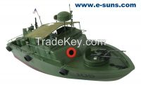 Gas Powered Large Boats Scale Boats 105 River Patrol Boat 1300GP260-RTR(Pistol Transmitter)