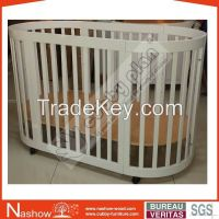 Cubby Plan LMBC-080 Popular New Wooden Furniture Baby Cot Baby Crib