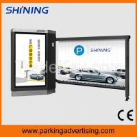 Parking advertising nice barrier with LED on arm